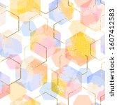 vector seamless geometric... | Shutterstock .eps vector #1607412583