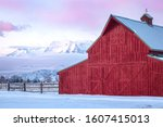 Red Barn In The Wasatch Back ...