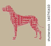 Dog Typography 3d Text Word Ar...