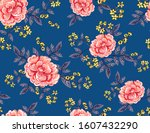 abstract seamless pattern with... | Shutterstock .eps vector #1607432290