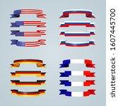 flag ribbon of america usa... | Shutterstock .eps vector #1607445700