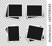 set of vintage photo frame.... | Shutterstock .eps vector #1607458183