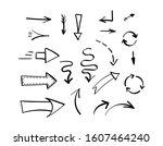 set of different black hand... | Shutterstock .eps vector #1607464240