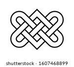 love heart endless knot vector... | Shutterstock .eps vector #1607468899