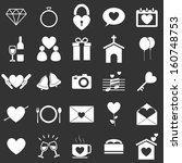 wedding icons on black... | Shutterstock .eps vector #160748753