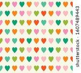 heart pattern. geometric... | Shutterstock .eps vector #1607489443