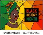 black history month celebration ... | Shutterstock .eps vector #1607489953