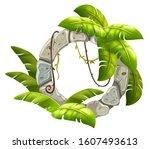 stone board decoration liana... | Shutterstock .eps vector #1607493613