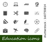 education icons.  | Shutterstock . vector #160750814