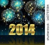 happy new year 2014 | Shutterstock .eps vector #160755584