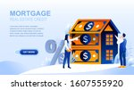 mortgage flat landing page with ...
