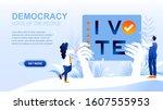democracy flat landing page...