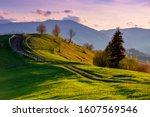 Mountainous Rural Landscape In...