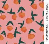 seamless fruits pattern. vector ...   Shutterstock .eps vector #1607585503