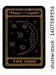 the moon. hand drawn major... | Shutterstock .eps vector #1607589556