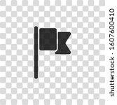 simple flag icon. black symbol...