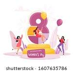 international women's day....   Shutterstock .eps vector #1607635786