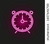 alarm clock neon style icon....