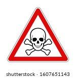Warning Skull Crossbones Danger ...