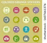 communication colored grunge... | Shutterstock .eps vector #1607661376