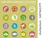 communication colored grunge... | Shutterstock .eps vector #1607661379