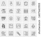 set of 25 universal business... | Shutterstock .eps vector #1607663503