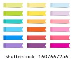 colourful sticky ribbon index... | Shutterstock .eps vector #1607667256