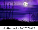 illustration of tropical beach... | Shutterstock .eps vector #1607679649