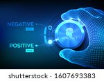 positive or negative thinking.... | Shutterstock .eps vector #1607693383