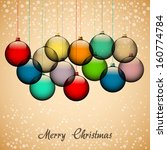 retro christmas card with... | Shutterstock .eps vector #160774784