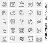 set of 25 universal business...   Shutterstock .eps vector #1607778550