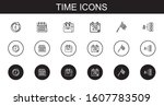 time icons set. collection of...