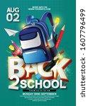 back to school in white... | Shutterstock .eps vector #1607796499