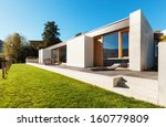 beautiful modern house in... | Shutterstock . vector #160779809