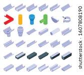 Gutter Icons Set. Isometric Se...