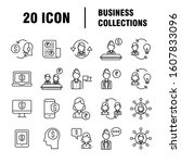 business icons set. icons for... | Shutterstock .eps vector #1607833096