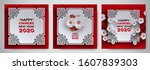 chinese new year 2020 banner... | Shutterstock .eps vector #1607839303