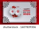 chinese new year 2020 banner.... | Shutterstock .eps vector #1607839306