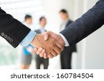 cropped image of businesspeople ... | Shutterstock . vector #160784504