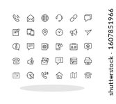 contact us icon set in trendy...
