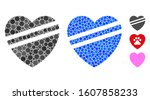 sick heart mosaic of small...   Shutterstock .eps vector #1607858233