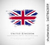 united kingdom flag made in... | Shutterstock .eps vector #1607862859