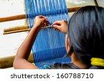 Girl Weaving Guatemala