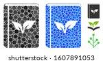 flora book composition of... | Shutterstock .eps vector #1607891053