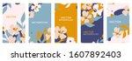 vector set of abstract creative ... | Shutterstock .eps vector #1607892403