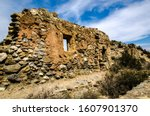 Stone Wall Of A Ruin In The...
