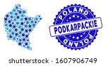 Blue Podkarpackie Voivodeship...