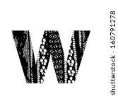 vector lace font   letter w | Shutterstock .eps vector #160791278