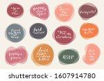 vector calligraphic hand...   Shutterstock .eps vector #1607914780