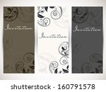 beautiful floral decorated... | Shutterstock .eps vector #160791578